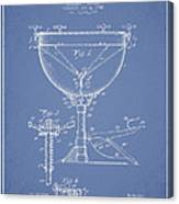 Ludwig Kettle Drum Drum Patent Drawing From 1941 - Light Blue Canvas Print