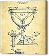Ludwig Kettle Drum Drum Patent Drawing From 1941 - Vintage Canvas Print