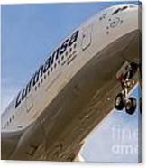 Lufthansa Airbus A-380 Canvas Print