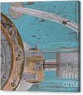 Lug Nut Wheel Left Turquoise And Copper Canvas Print