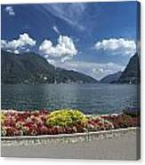 Lugano By Lago Di Lugano Canvas Print