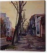 Lugansk Old Street Canvas Print