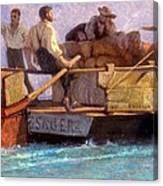 Luggage Boat Canvas Print