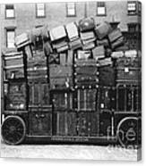 Luggage Cart At Train Station, 1910s Canvas Print