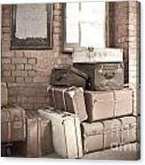 Luggage Cases Canvas Print