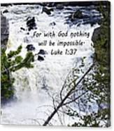 Luke 1 37  Canvas Print