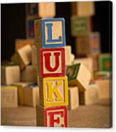 Luke - Alphabet Blocks Canvas Print