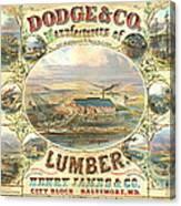 Lumber Company Ad 1880 Canvas Print