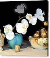 Luminous Watercolor Orchids Canvas Print