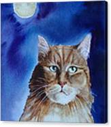 Lunar Cat Canvas Print