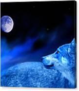 Lunar Wolf 2 Canvas Print