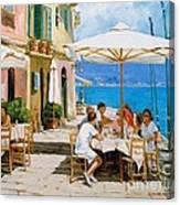 Lunch In Portofino Canvas Print