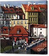 Lunch Time In Prague Canvas Print