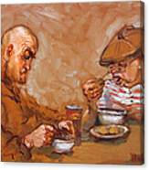 Lunchtime At Tim  Canvas Print