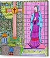 Lupe Yellow Cross Canvas Print