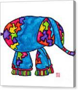 Lupita Elephant Canvas Print