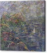 Lush Coast Canvas Print