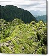 Lush Hawaiian Mountains Canvas Print