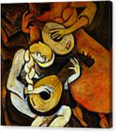 Lute Players Canvas Print