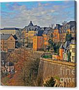 Luxembourg Fortification Canvas Print