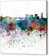 Luxembourg Skyline In Watercolor On White Background Canvas Print
