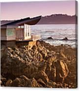 Luxury Home Overlooks The Big Sur Canvas Print