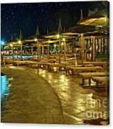 Luxury Hotel At Night Canvas Print
