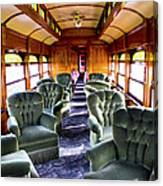 Luxury Lounge Car Of Early Railroading Canvas Print