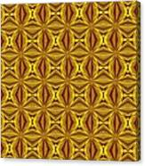 Luxury Red And Gold Christmas Kaleidoscope Canvas Print