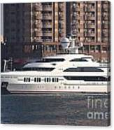 Luxury Yacht Visits Kaohsiung Port Canvas Print
