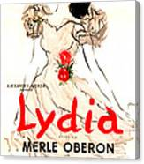 Lydia, Us Poster, Merle Oberon, 1941 Canvas Print