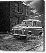 Lye Rain Storm, Ford Prefect Van - 1960's    Ref-244 Canvas Print