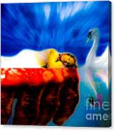Lying In Blood Of Love Canvas Print