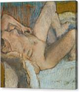 Lying Nude Woman Canvas Print