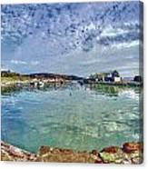 Lyme Regis Harbour -- Painterly Canvas Print