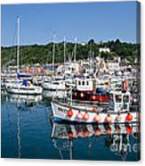 Lyme Regis Harbour On A July Morning Canvas Print