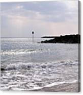 Lyme Regis Seascape - March Canvas Print