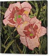 Lynda's Daylilies Canvas Print