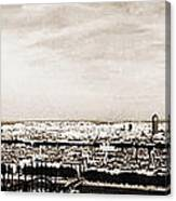 Lyon From The Basilique De Fourviere Canvas Print