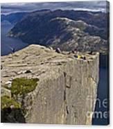 Lysefjord With Prekestolen Canvas Print