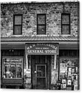 M And M Mercantile Bw Canvas Print