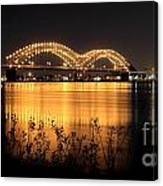The Hernando De Soto Bridge M Bridge Or Dolly Parton Bridge Memphis Tn  Canvas Print