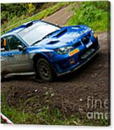 M. Cairns Driving Subaru Impreza Canvas Print