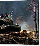 M48 Tanks An Tankers On The Job In Korean War Canvas Print