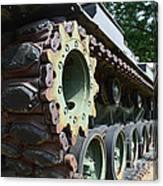 M60 Patton Artillery Tank Tread Canvas Print