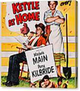 Ma And Pa Kettle At Home, Us Poster Canvas Print