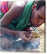 Maasai Fire Maker Canvas Print
