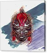 Maasai Mask - The Rain God Ngai Canvas Print