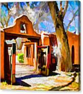 Mabel's Gate As Oil Painting Canvas Print