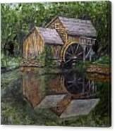 Mabry Mill Oil On Slate Canvas Print